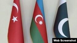 Azərbaycan, Türkiyə və Pakistan bağrağı