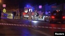 Une scène où le corps d'un des iraniens tués a été retrouvé, à Istanbul, le 29 avril 2017.