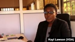 Emefa Kpegba, directrice de E-Technopole à Lomé, 14 mars 2021.