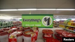 """""""Dollar Tree"""" mağazasında satılan məhsulların qiyməti standart olaraq 1 dollardır."""