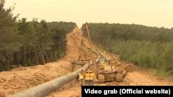 Radnici na polaganju gasovoda, Foto :Video grab