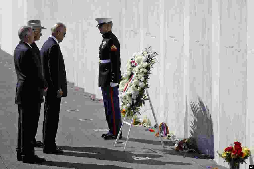El vicepresidente Joe Biden participó de una conmemoración en el memorial de Shanksville, Pennsylvania, donde se estrelló el vuelo 93.