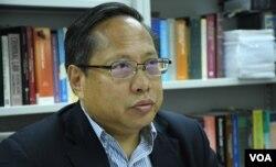 香港支聯會主席何俊仁。(美國之音湯惠芸)