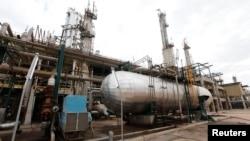 FILE - A general view shows an oil refinery in Zawia, 55km west of Tripoli, Libya.