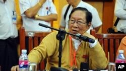 FILE - Burma's National League for Democracy spokesman Nyan Win.