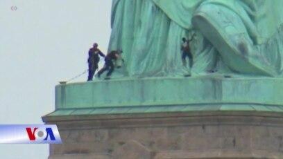 Leo lên Nữ thần Tự do biểu tình, đối diện án tù