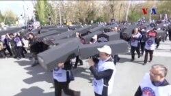 Ankara'da Rusya ve İran Protestosu