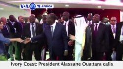 VOA60 Africa - Ivory Coast: President Alassane Ouattara calls for more engagement in the fight against terrorism
