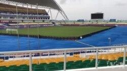 Vista interior do Estádio da Amizade em Libreville, onde se realiza o CAN 2017