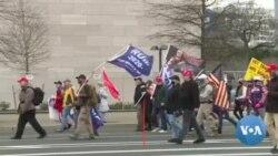 Des manifestants au Congrès pour protester contre la certification électorale