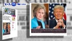 Bà Clinton và ông Trump đạt tỷ lệ ủng hộ gần ngang ngửa (VOA60)