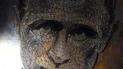 «چهره جنگ» ؛ پرتره ای از ولادیمیر پوتین ساخته شده از پوکه های فشنگ