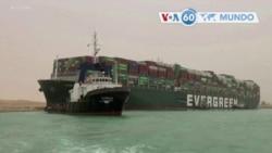 Manchetes mundo 25 Março: Proprietário do cargueiro encalhado no Canal de Suez pede desculpa pelo acidente