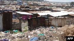 the slum of Mathare, one of the poorest slums in Nairobi.