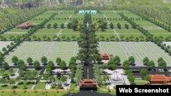 Mô hình Nghĩa trang Yên Trung dự trù kinh phí hơn 1.400 tỷ đồng dành cho các lãnh đạo cao cấp của Việt Nam. (Ảnh: VietnamFinance)