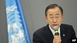 UN Secretary-General Ban Ki-moon attends a news conference in Brasilia, Brazil, June 17, 2011 (file photo)