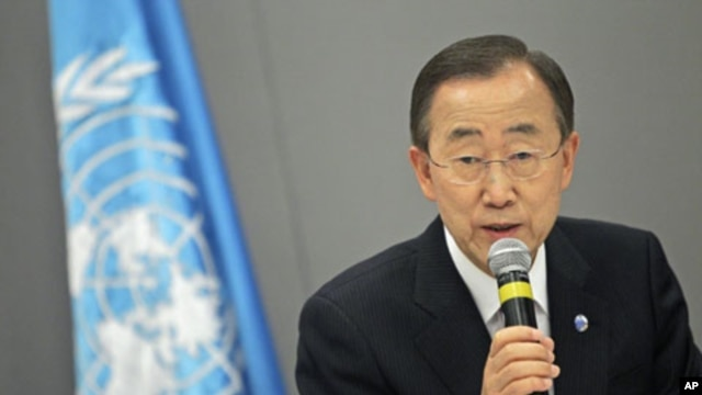 UN Secretary-General Ban Ki-moon attends a news conference in Brasilia, Brazil (File Photo - June 17, 2011)