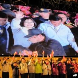 民進黨總統參選人蔡英文出席一場造勢晚會