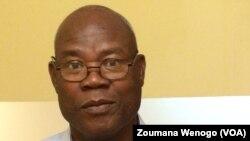 Ousmane Jean-Pierre Siribié, le sécrétaire général de l'ASCE_LC, Ouagadougou, Burkina, 19 octobre 2017. (VOA/Zoumana Wenogo).