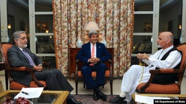 امریکا میگوید که نامزدان ریاست جمهوری افغانستان از قبل توافق کرده بودند
