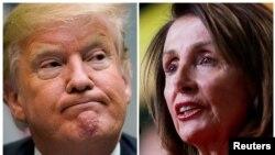 Ifoto ya Perezida Trump imatanije n'iya Nancy Pelosi