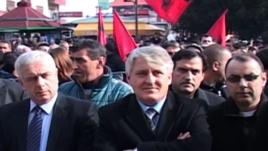Protesta të shqiptarëve në Luginën e Preshevës