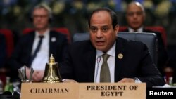 FILE PHOTO: Egyptian President Abdel Fattah al-Sisi attends a summit between Arab league and European Union member states, in the Red Sea resort of Sharm el-Sheikh, Egypt, Feb. 24, 2019.