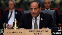 Le président égyptien Abdel Fattah al-Sisi lors d'un sommet entre la Ligue arabe et l'Union européenne, à Charm el-Cheikh, en Égypte, le 24 février 2019. (Photo: REUTERS/Mohamed Abd El Ghany)