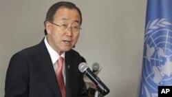 Sekjen PBB Ban Ki-moon menyerukan agar semua negara menghentikan pengiriman senjata ke Suriah yang hanya menambah penderitaan (foto: dok).