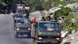 အိႏိၵယစစ္ယာဥ္တန္းကို အိႏိၵယႏိုင္ငံ Ladakh ေဒသကိုသြားတဲ့ highway လမ္းမမွာ ေတြ႔ရ။ (ဇြန္ ၁၈၊ ၂၀၂၀)