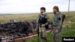 شورشیان حامی روسیه نزدیک دونتسک، شرق اوکراین