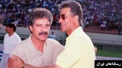 منصور پورحیدری در کنار ناصر حجازی