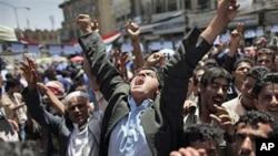 5月2日也门群众继续示威要求总统萨利赫下台