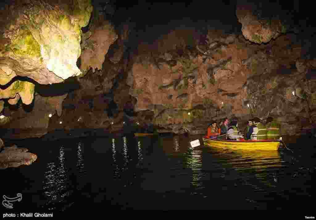 غار سهولان در ۴۲ کیلومتری جاده مهاباد-بوکان در آذربایجان غربی. عکس: خلیل غلامی