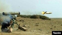 تصویری که خبرگزاری تسنیم از موشک ضدشناور دهلاویه منتشر کرده است