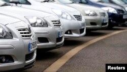 Tojotini automobili u Londonu