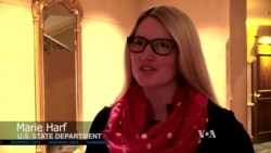Interview of State Department official Marie Harf by VOA's Pam Dockins