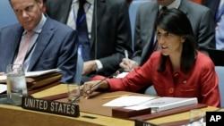 Ambasadorka SAD u UN Niki Hejli na sednici SB UN na kojoj se raspravljalo o sankcijama protiv Severne Koreje