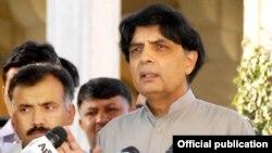 وفاقی وزیر داخلہ چوہدری نثار