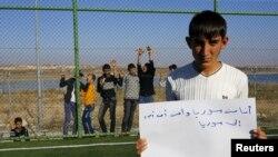 Li kampeke Nizib ya Dîlokê koçberê Sûrî Mistefa Helebî: ''Ez Sûrî me û dixwazim vegerim Sûrîyê''