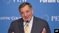 Menteri Pertahanan Amerika Leon Panetta berbicara pada Forum Konvensi Hukum Laut di Washington (9/5).
