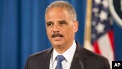 Jaksa Agung Eric Holder mengumumkan penyelidikan Pemerintah Federal terhadap kepolisian Ferguson, Missouri (4/9).