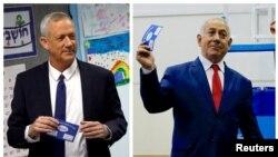အစၥေရးကာကြယ္ေရးဦးစီးခ်ဳပ္ေဟာင္း Benny Gantz နဲ႔ လက္ရွိ၀န္ႀကီးခ်ဳပ္ Benjamin Netanyahu