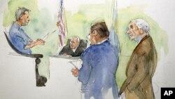 達斯基被在接受審判過程中