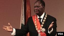 Le président ivoirien Alassane Ouattara. (VOA)