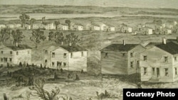 "Close-up from ""Freedman's Village, Arlington, Virginia"" Print from Harper's Weekly, May 7, 1864"