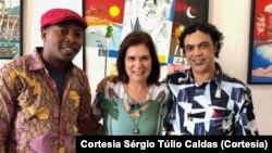 Gociante Patissa, Ângela Frga e Sérgio Túlio Caldas