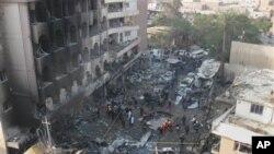 바그다드 연쇄 폭탄 테러 현장