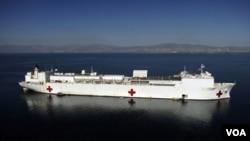 El Comfort estuvo prestando asistencia médica el año pasado en Haití.