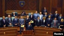 Premijer Kosova Ramuš Haradinaj na sednici parlamentau Prištini 9. septembra 2017.